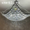 Cristal and chrome chandelier for sale